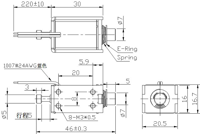框架式电磁铁